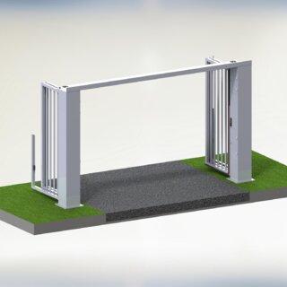 Speedgate Bovengeleiding 3D open